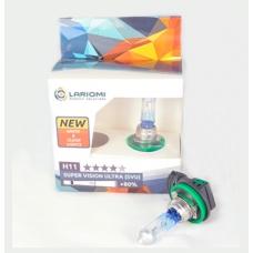 LARIOMI Лампа Галогенная H11 12v 55w Pgj19-2 Super Vision Ultra LARIOMI