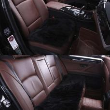 Комплект квадратов из меха (длинный ворс) на сиденья автомобиля