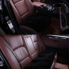 Комплект квадратов из меха (короткий ворс) на сиденья автомобиля