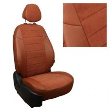 """Авточехлы """"Автопилот"""" алькантара (коричневый + коричневый)"""