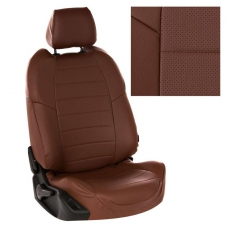 """Авточехлы """"Автопилот"""" экокожа (темно-коричневый + темно-коричневый)"""