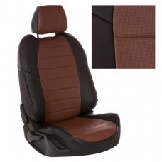 """Авточехлы """"Автопилот"""" экокожа (черный + темно-коричневый)"""