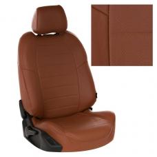 """Авточехлы """"Автопилот"""" экокожа (коричневый + коричневый)"""
