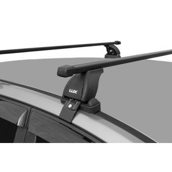 """Багажная система """"LUX"""" с дугами 1,1м прямоугольными в пластике для а/м Chevrolet Aveo Sedan 2003-... г.в."""