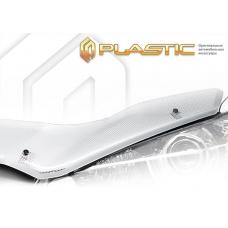 Дефлектор капота (exclusive) Fiat Doblo (Шелкография серебро)