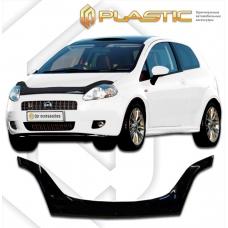 Дефлектор капота (exclusive) Fiat Punto (Classic черный)