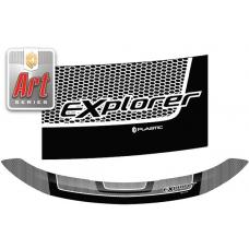 "Дефлектор капота (exclusive) Ford Explorer (Серия ""Art"" белая)"