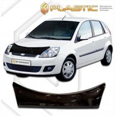 Дефлектор капота (exclusive) Ford Fiesta (Classic черный)
