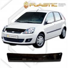 "Дефлектор капота (exclusive) Ford Fiesta (Серия ""Хром"" золото)"