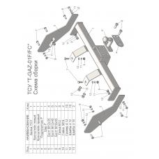 Фаркопы ТСУ (со съемным шаром) для 2705 (без снятия запасного колеса)