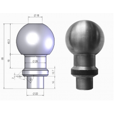 Шар тип E вварной (покрытие цинк)