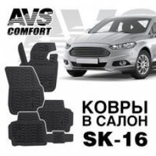 КОВРЫ В САЛОН 3D FORD MONDEO SD (2015-) AVS SK-16(4 ПРЕДМ.)