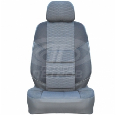 """А10"" Fiat Albea (2003-2012) седан, 2/3; СЕРЫЙ; экокожа-ЖАККАРД"