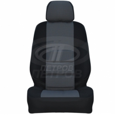 """""""А10"""" Fiat Albea (2003-2012) седан, 2/3; ЧЕРНЫЙ; экокожа-ЖАККАРД"""
