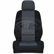 """""""А10"""" Fiat Ducato III пок./Boxer II пок./Jumper (2006-2014), (1+2); ЧЕРНЫЙ; экокожа-ЖАККАРД;"""