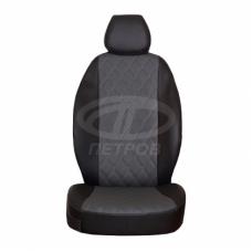 """""""Орегон РОМБ"""" Ford Focus II пок. (2004-2011); черный-серый; экокожа"""
